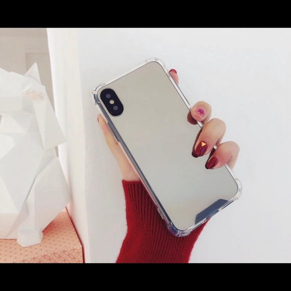 info for bf835 a76f9 For iPhone X silver mirror case